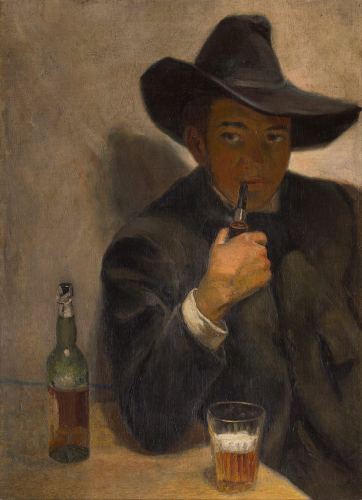 Self-Portrait With Broad-Brimmed Hat